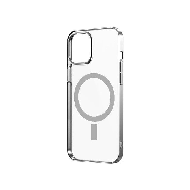 Transparent Hard PC Magsafe Case for iPhone 12 PRO MAX Magsafing Wireless Charger Magnetic Phone Case for iPhone 12 12mini
