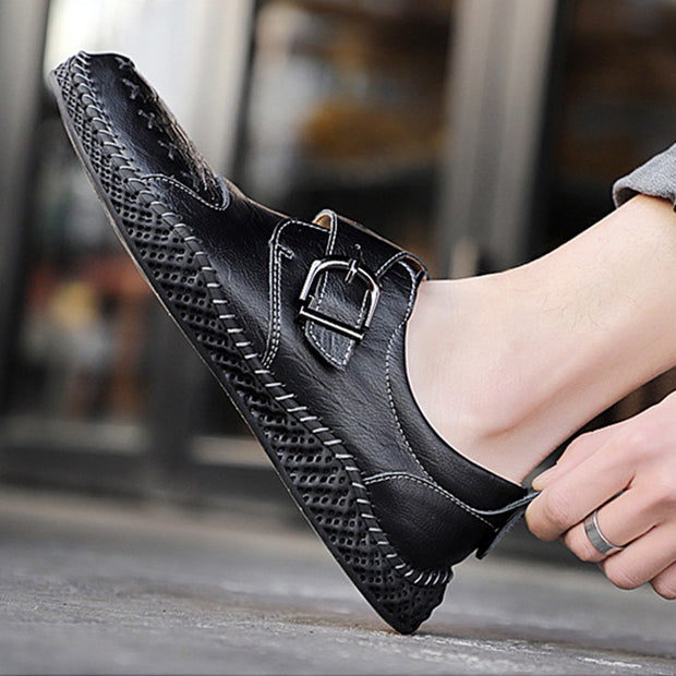 Men's Large Size Leather Casual Shoes