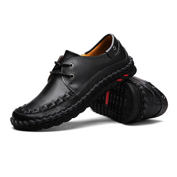 Men's Handmade Large Size Breathable Casual Leather Shoes