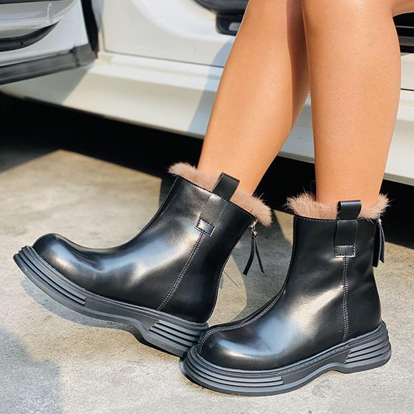 Ladies Zip Chelsea Boots