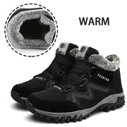 Women's Winter Thermal Villi Leather Platform High Top Boots