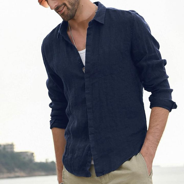Men's Cardigan Long Sleeve Shirt