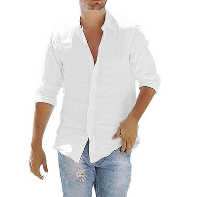 Men's Loose Cotton Linen Shirts