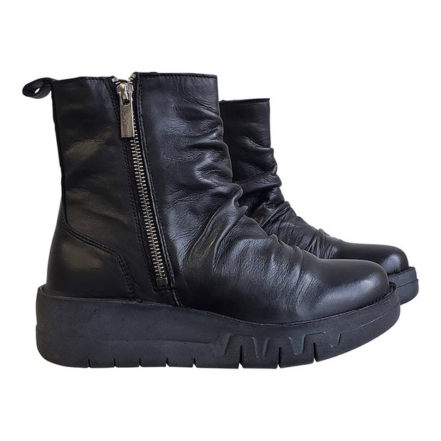 Women Vintage Side Zipper Short Boots
