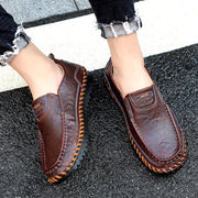 Men's Genuine Leather Handmade Fashion Walking Shoes Loafers
