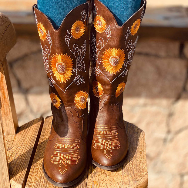 Women's Fashion Embroidered High Boots