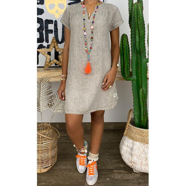 Women's Causal Cotton Shift Dresses