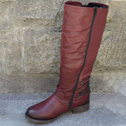 Women's Vintage Leather Zipper High Boots