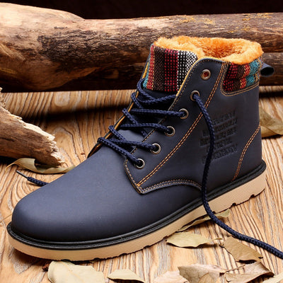 Men Winter Warm Fur Casual Snow Boots