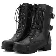 Women'S Metal Buckle Mid-Tube Martin Boots