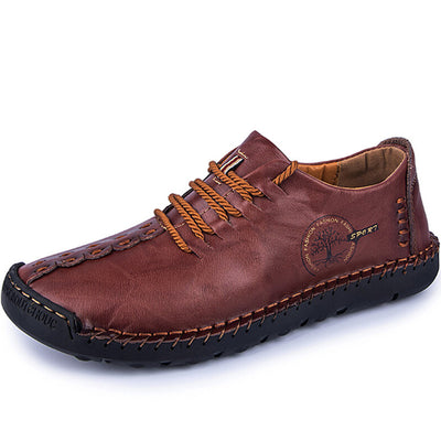 Men Hand Stitching Non Slip Soft Sole Casual Shoes