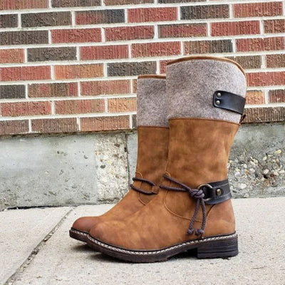 Women's Comfy Low Heel Mid-calf Boots