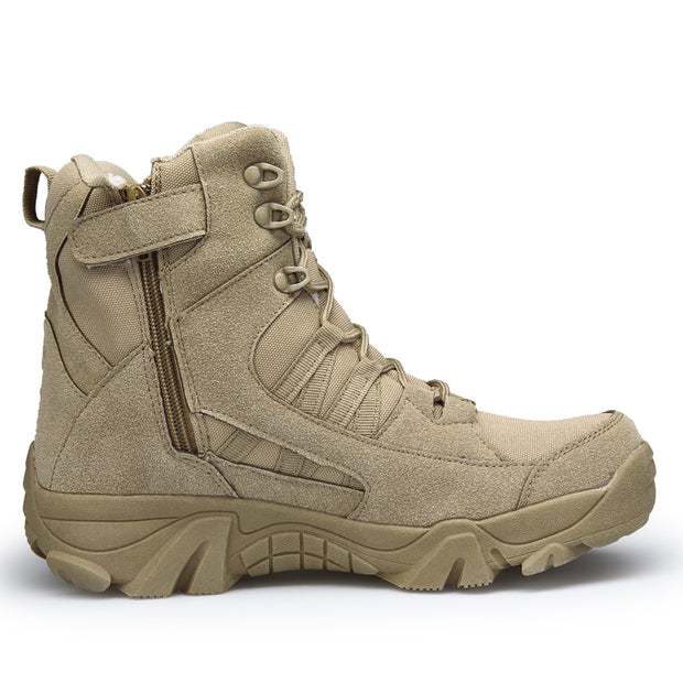 Men Outdoor Waterproof Desert Anti-Collision Toe Army Boots