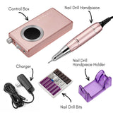 Stephanee Rechargeable Nail Drill in Rose Gold