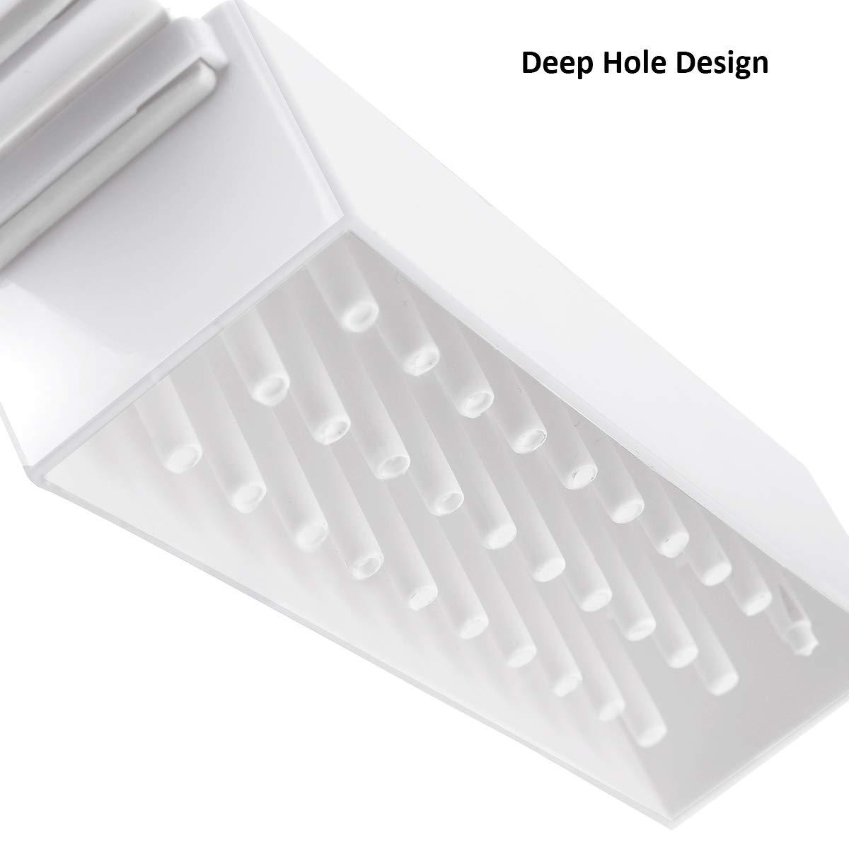 30 Hole Nail Drill Bits Organizer in White (Drill Bits Not Included) (B-22)