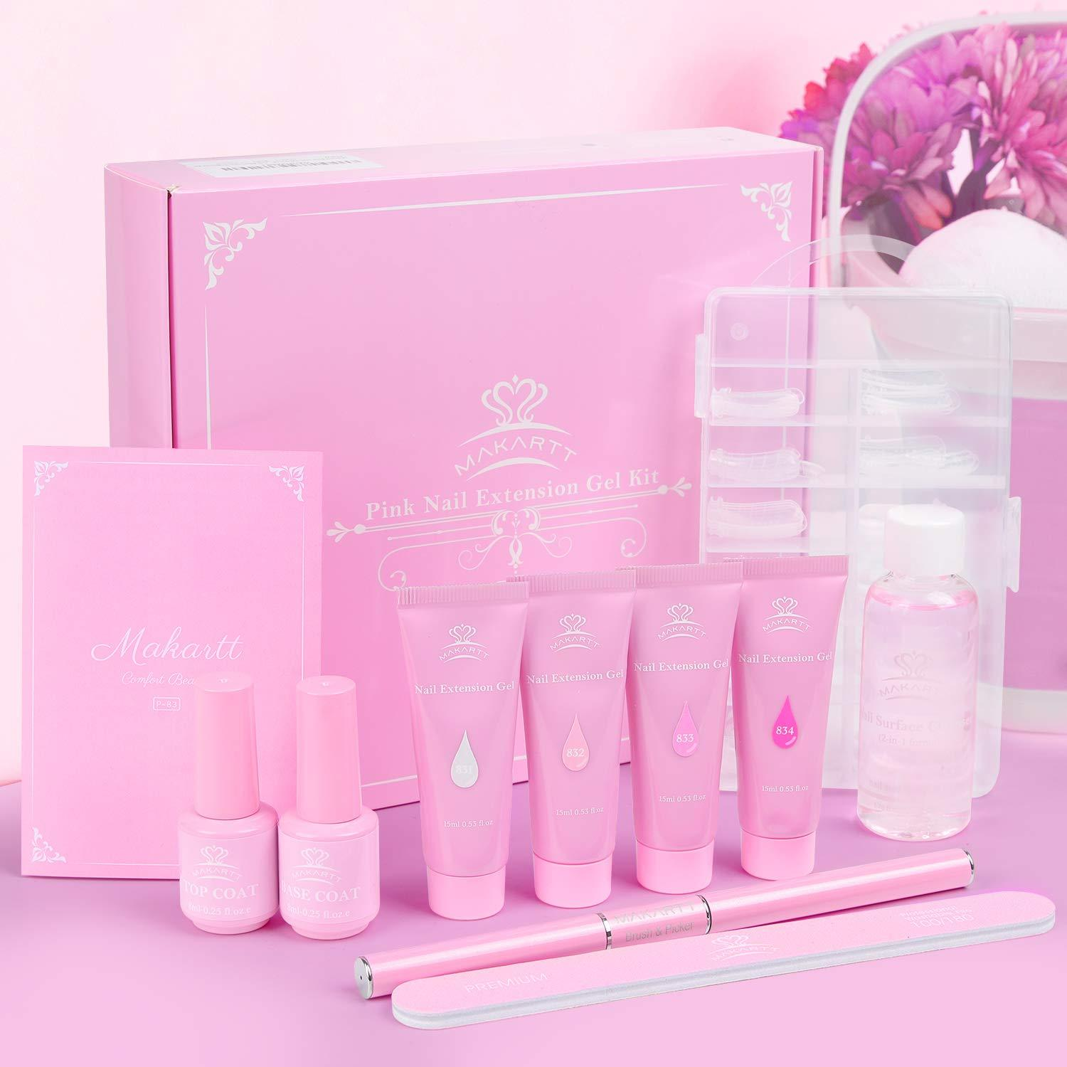 Pink Collection Poly Nail Extension Gel Starter Kit
