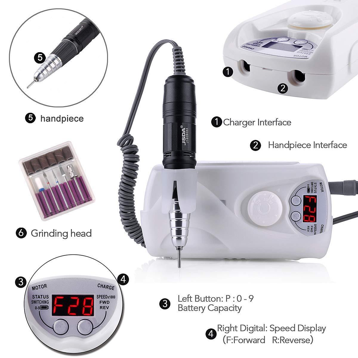 30000RPM Rechargeable Nail Drill Nail Machine