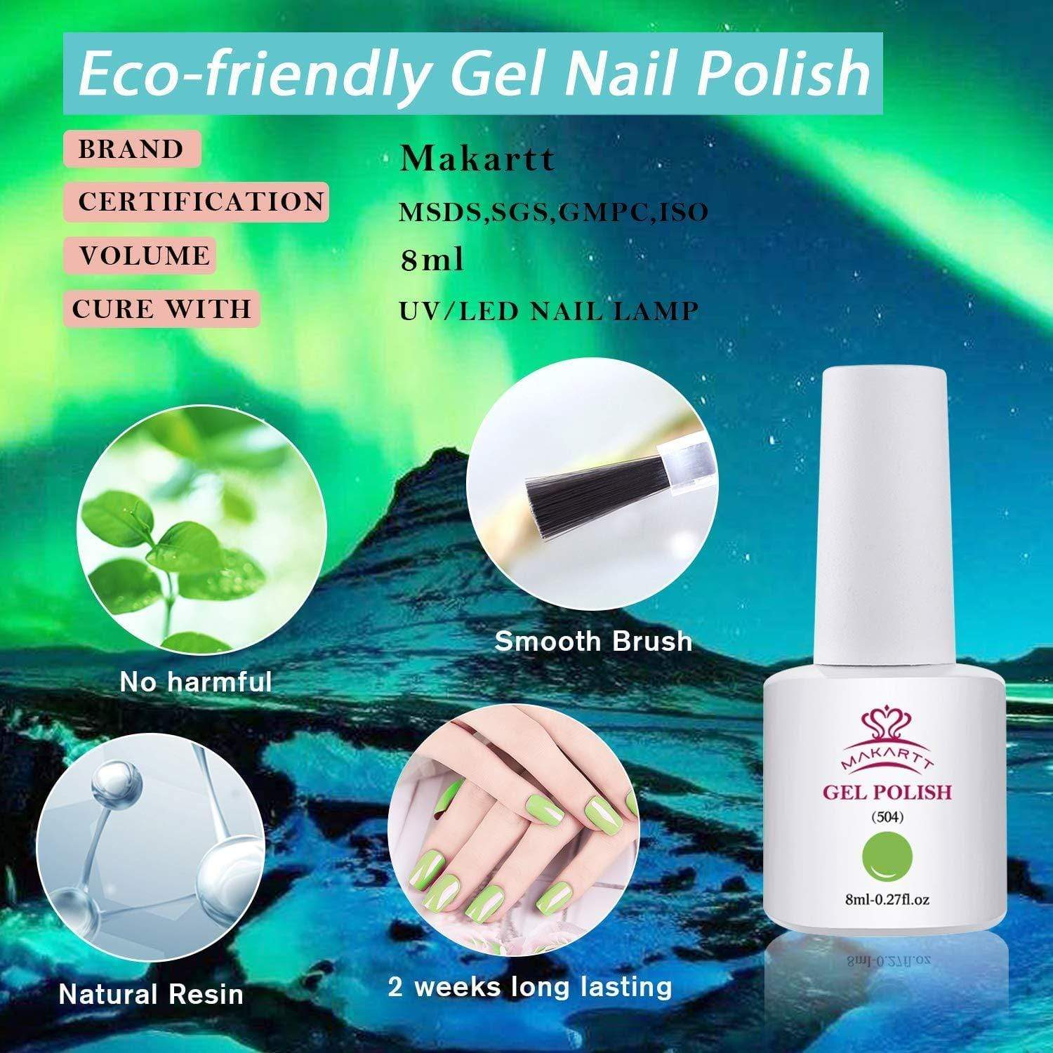 Lime Green Gel Nail Polish Kit