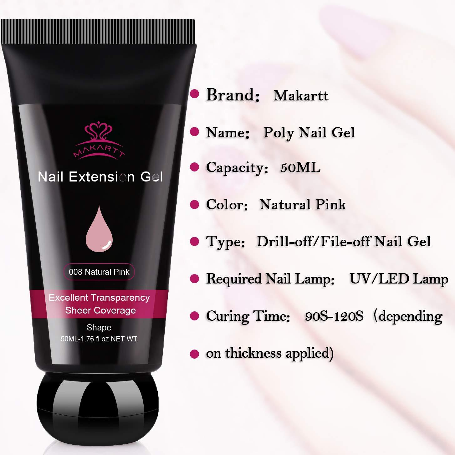 Poly Nail Extension Gel 50ml in Natural Pink