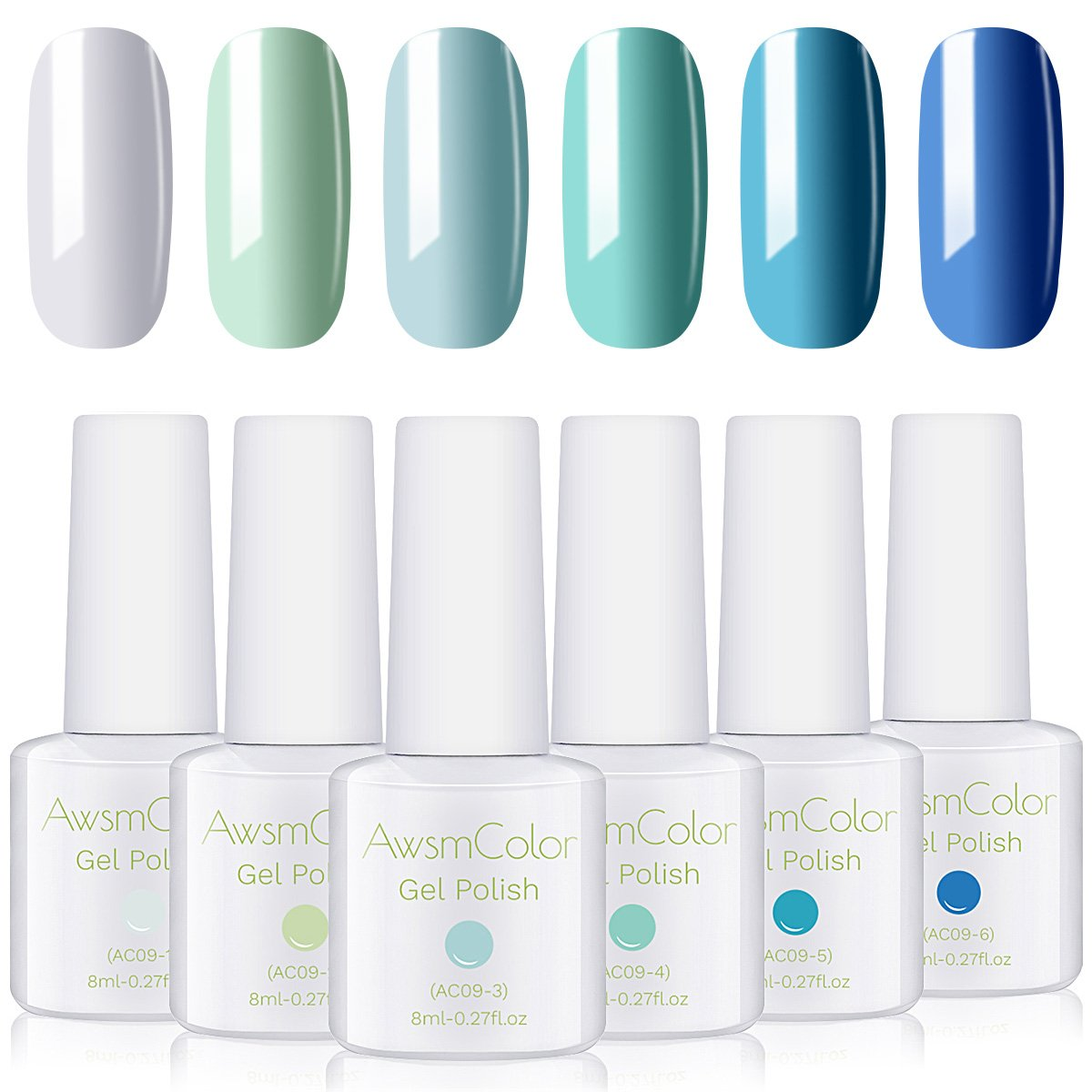 Blue Jean Baby Collection Classic Blue Gel Nail Polish Set