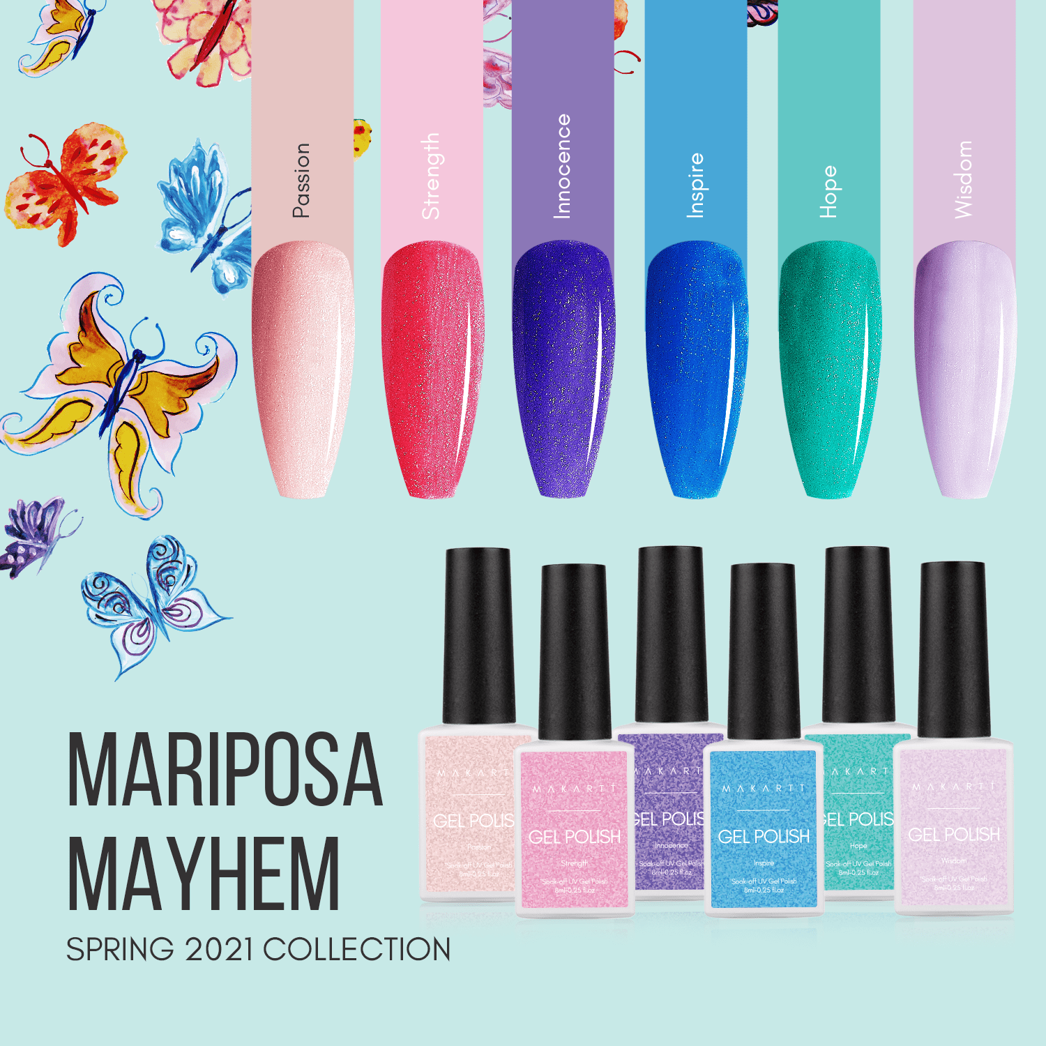 Mariposa Mayhem Gel Polish Set