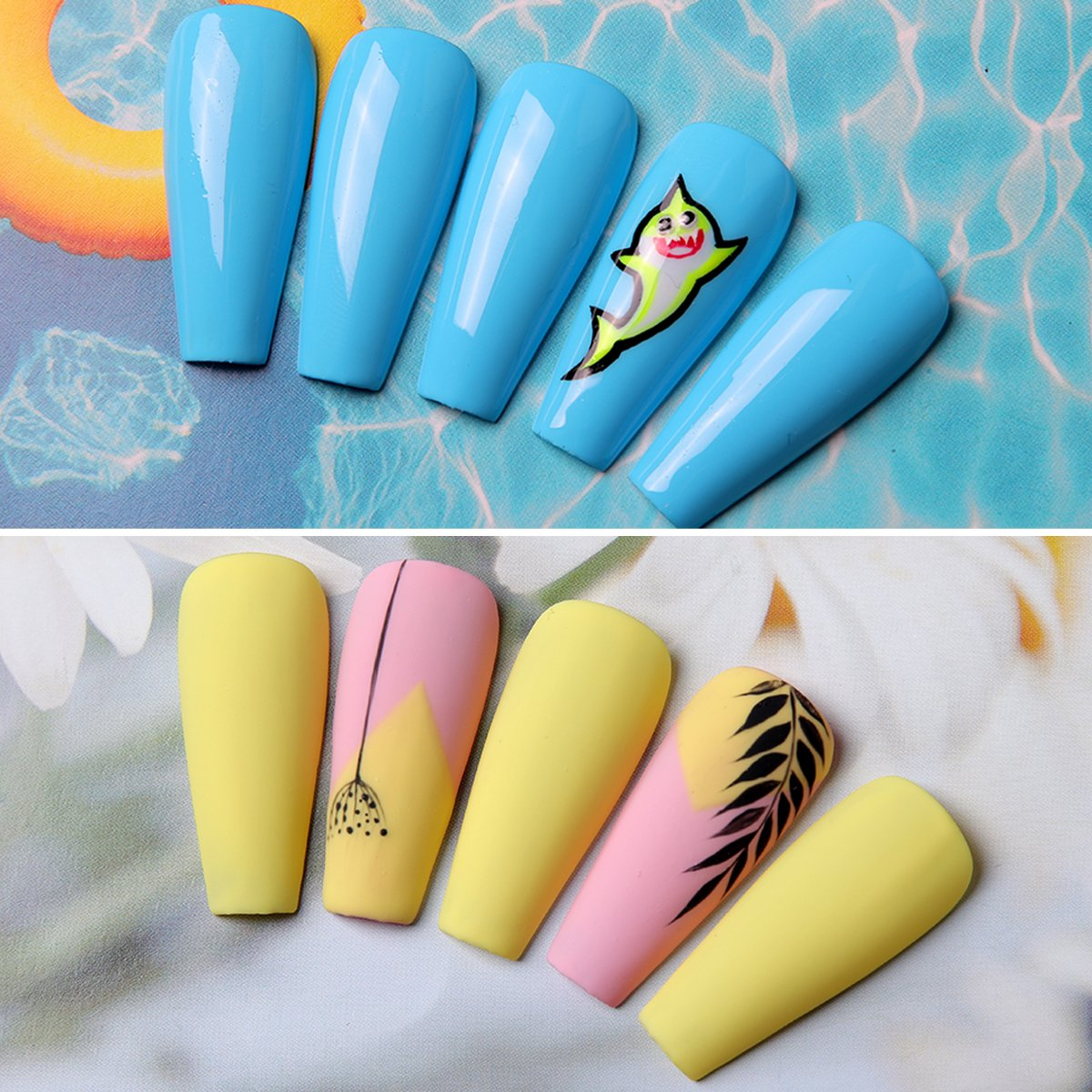 Extroverted Yellow Blue Gel Polish Set