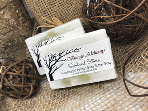 sand and stone shea butter soap
