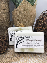Load image into Gallery viewer, shea butter sage and sea salt soap