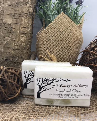 sand and stone natural soap