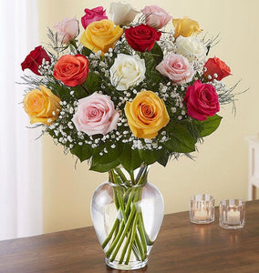 18 ROSES ASSORTED