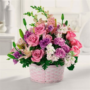 myeasyflowers-Dianthus caryophyllus-CLAVEL-CARNATION_PURPLE PINK ROSES LILLY