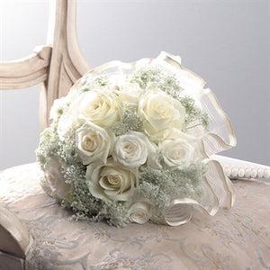 Myeasyflowers-ribbon-wedding-bouquete--Gypsophila-LLUVIA-BABY BREATH-Roseae-ROSAS-ROSES_WHITE