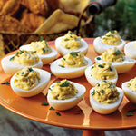 Devilled Hummus Eggs