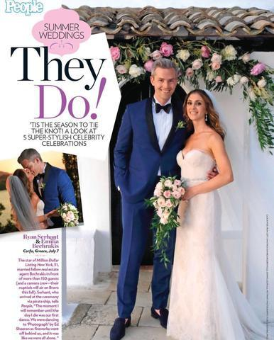 Ryan Serhant and Emilia Bechrakis' Romantic Greece Wedding