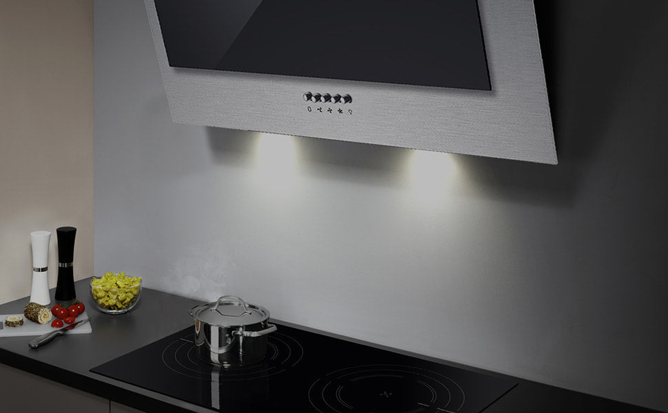 Angled Cooker Hood LED Lights | Angled Cooker Hood 60cm CBCB6736C-OW