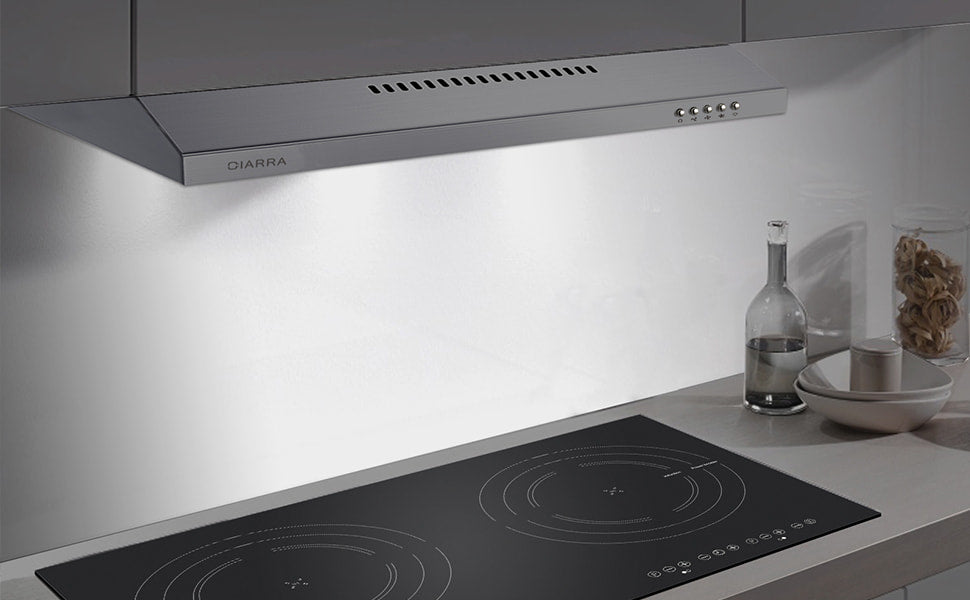 CIARRA 60cm Integrated Cooker Hood CBCS6903-OW UK