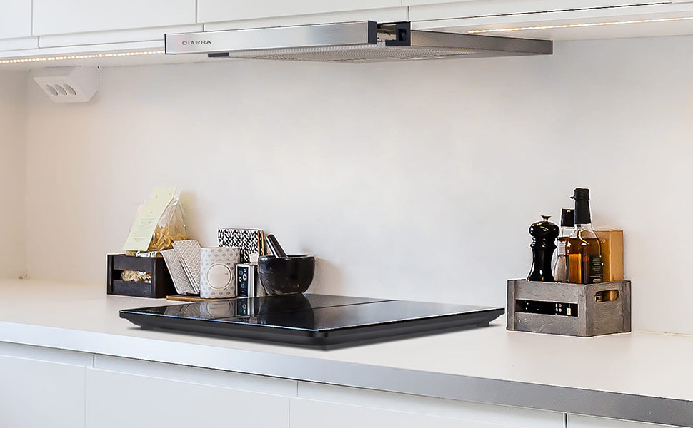 CIARRA 60cm Downdraft Cooker Hood with 3-speed Extraction CBCS6906D-OW