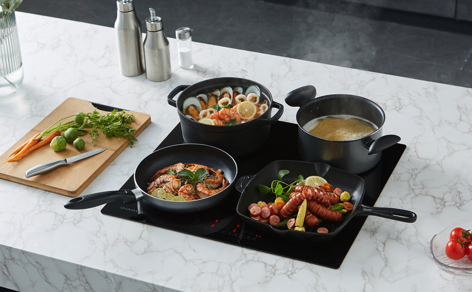 CIARRA Built-in Induction Hob with 4 Zones with Boost CBBIH4B-OW