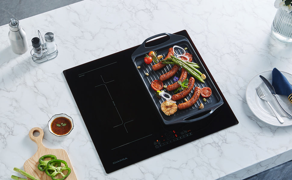CIARRA Built-in Induction Hob with 3 Zones CBBIH3-OW