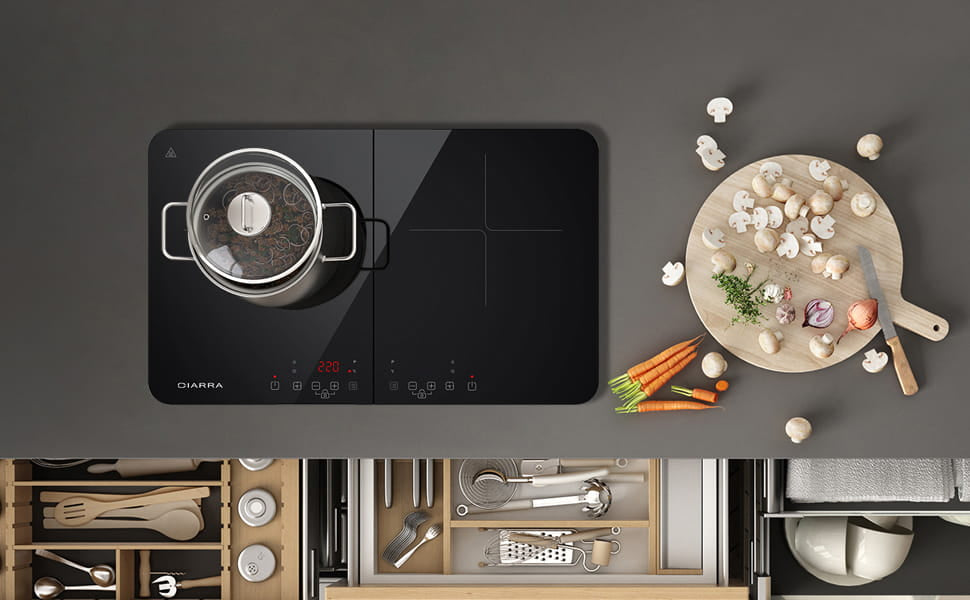 portable double induction hob
