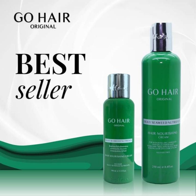 Go hair 250ml it helps dry hair become smooth heavily
