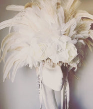 Load image into Gallery viewer, Anais Floral Feather Statement Headdress