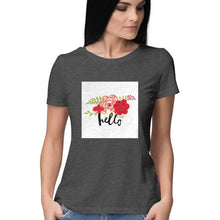 Load image into Gallery viewer, NQ 16011 | Women | Graphic Design Tshirt | Hello |