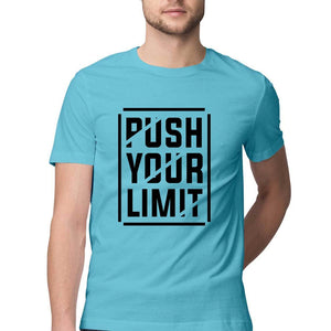 NQ 15004 | Men's | Typography T-Shirt Design | PUSH YOUR LIMIT |
