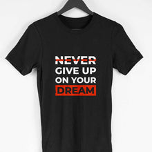 Load image into Gallery viewer, NQ 15009 | Men's | Typography Design Tshirt | NEVER GIVE UP |