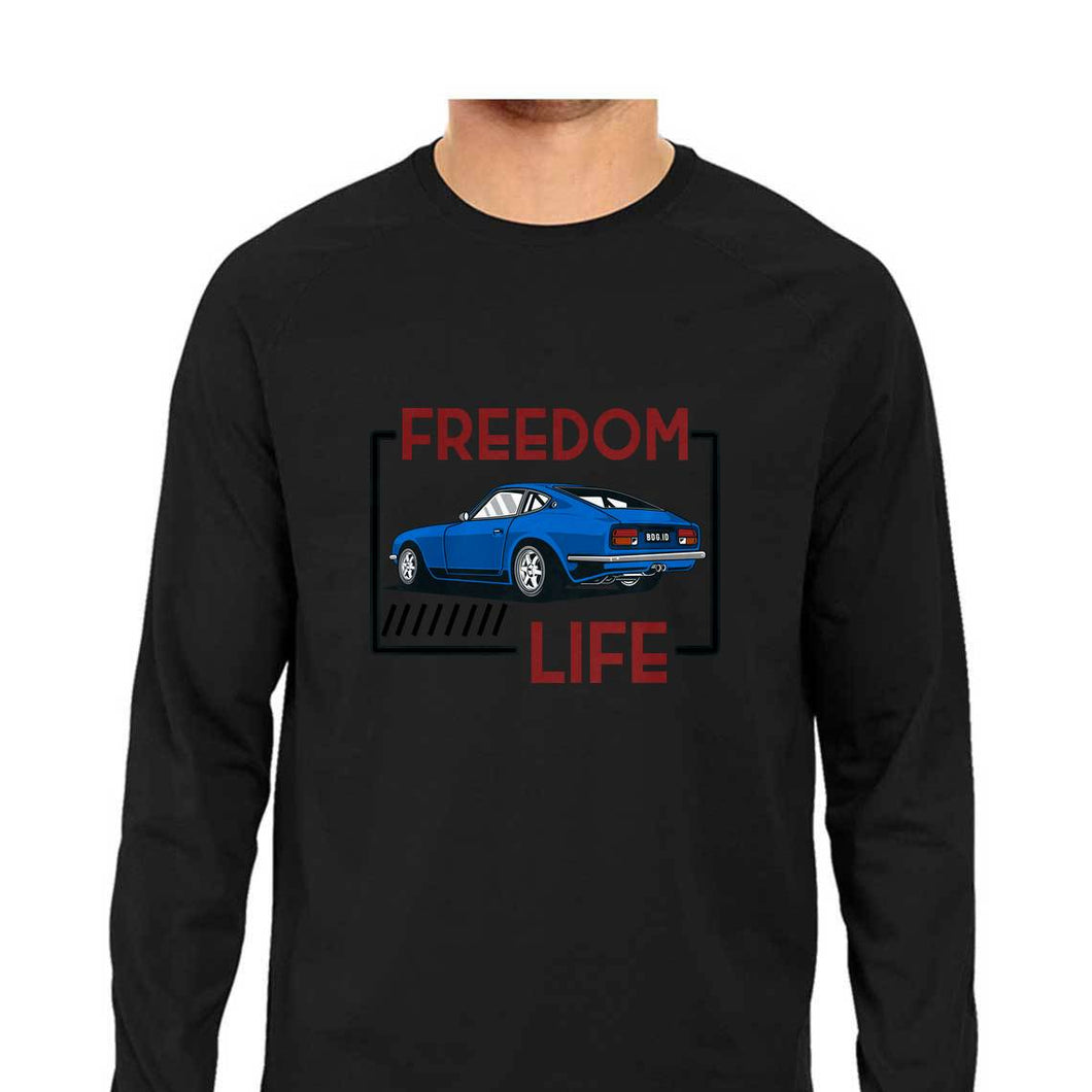 NQ 15075 | Men's | Graphic Design LONG SLEEV Tshirt | FREEDOM LIFE |