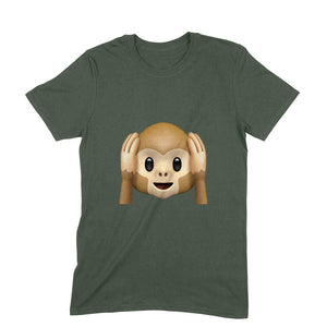 NQ 15033 | Men's | Graphic Design Tshirt | EAR CLOSE MONKEY |