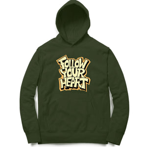 Stylish Typographic Hoodie for Men's - Follow your Heart