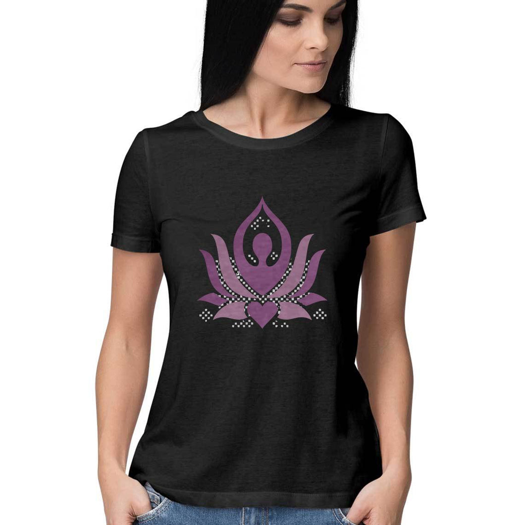 NQ 16041 |Women | Grapic Design Tshirt | YOGA |