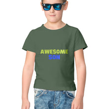 Load image into Gallery viewer, NQ 17061 | KIDS | Graphic Design Design Tshirt | AWESOME SON |